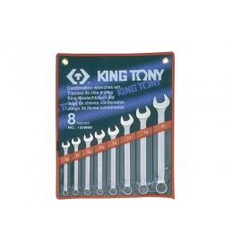 Set okasto-vilastih ključeva od 8 komada 10-22mm 1208MR