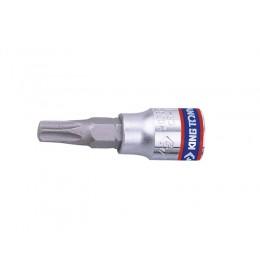 Torx bit gedora na 1/4''sa rupom T8-T40 L=37mm 2037