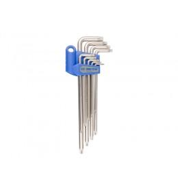 Set produženih L torx ključeva sa rupom od 9 komada T10-T50 20419PR