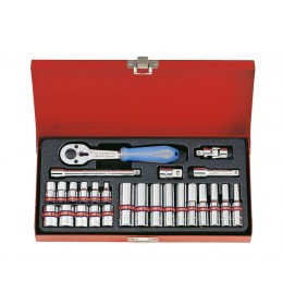 "Set colovnih gedora 1/4"" od 26 komada 6 uglova 2526SR"